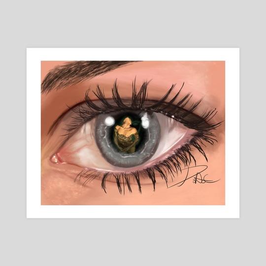 Sirena en la pupila de un ojo by David Aguilera Cobos
