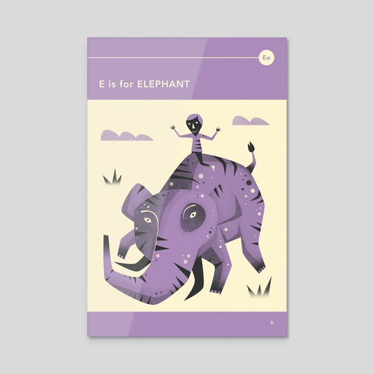 E is for ELEPHANT by Jazzberry Blue