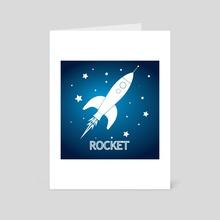 Rocket - Art Card by Tim Belusar