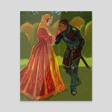Loyal Knight - Acrylic by Marina Vermilion