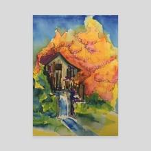 Mill Stream - Canvas by Dwayne  Hawk