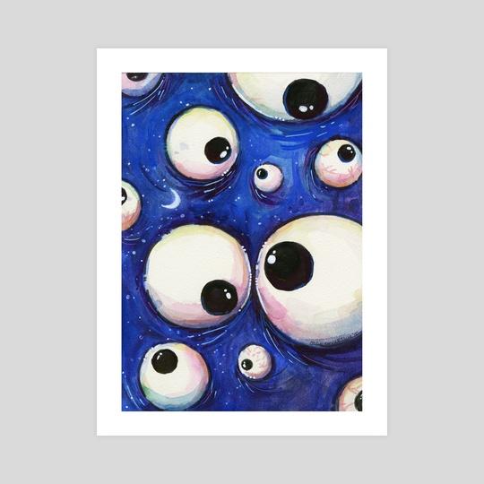 Blue Monster Eyeballs by Olga Shvartsur