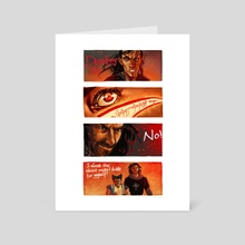 lord of the wolverine - Art Card by sabriel rin