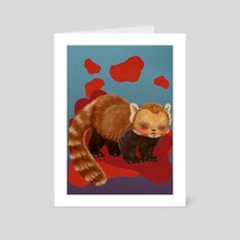Lloyd the Guardian Red Panda - Art Card by Hounyeh Kim