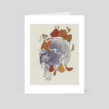 Autumn kitty - Art Card by Martina Fischmeister