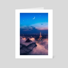 To Paris with love - Art Card by Jared Sandoval