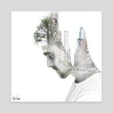 el artista - Canvas by Angel Caulin Atienzar