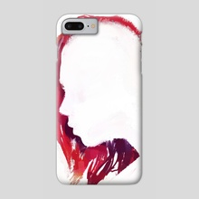 Colorful Hair: Red - Phone Case by Allison Gloe