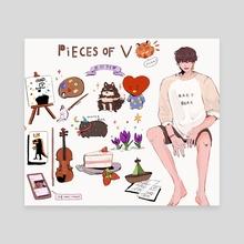 Pieces of V - Canvas by Luna
