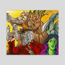 Guardians of the Galaxy - Canvas by Ryan Genovese