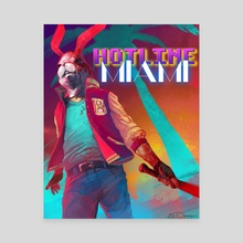 Hotline Miami: The Jacket - Canvas by Steve Donegani