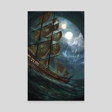 Through the Waves - Canvas by Anton Medvedkov