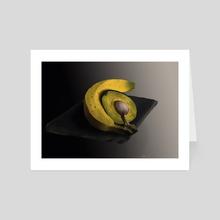 Sparkly Avocado - Art Card by Sara casen