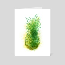 Fresh pineapple - Art Card by Carl Conway