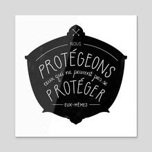 Nous Protégeons - Acrylic by Carina Tous