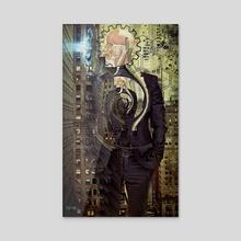Glitch On Wall Street - Acrylic by Vanja Rancic