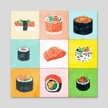 ♥ Salmon ♥ - Acrylic by Leonard Peng
