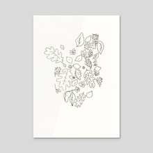 lemons and leaves - Acrylic by Eva Priestley