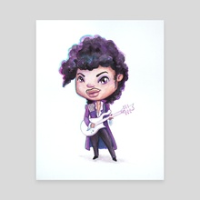 Purple Rain - Canvas by Beth  Hammer