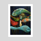 My Fascinating Friends - Art Print by Catherine Swenson