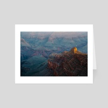 grand canyon from a precarious viewpoint - Art Card by Abdul Dremali