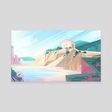 Spring Cliffs - Canvas by Devon Decker
