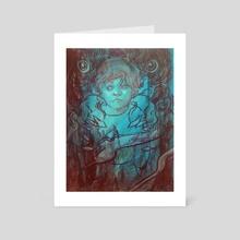 Wolf Dream #6 - Art Card by Marc Scheff