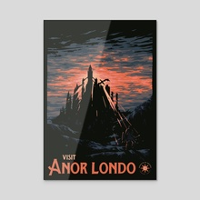 Vist Anor Londo - Acrylic by Matheus Lopes