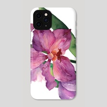 Purple Orchid - Phone Case by Paulina Navarro