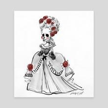 Rococo Skelegirl  - Canvas by Phillip Light
