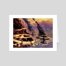 Lay of the Land - Art Card by Chuck Lukacs