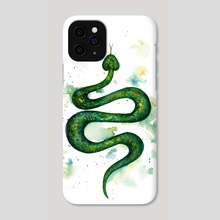 Sap Snake - Phone Case by Ilse Åsbakk