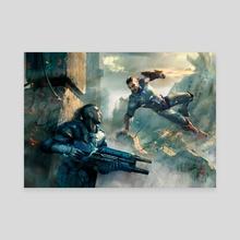Earthrise - Battle - Canvas by Miroslav Petrov