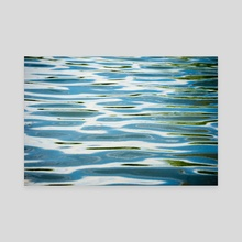 Waves on a Pond - Canvas by Brent Olson