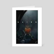 Alien  - Art Card by Brett Marchant