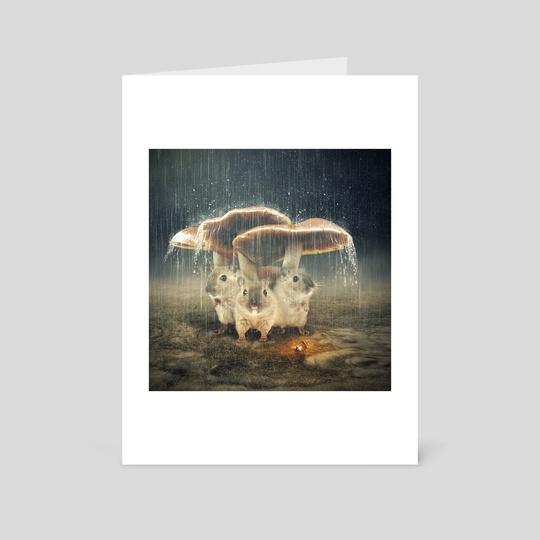 in the rain by Even Liu