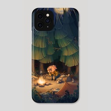Robert's camping night - Phone Case by Meri Pie
