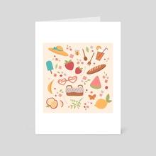 Spring Picnic - Art Card by Karina Perez