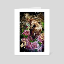 Wild horses - Art Card by Andrea Castaneda