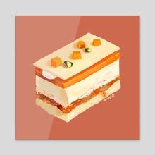 sweet tooth: orange - Acrylic by Lauren Grannum