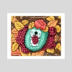 Autumn Hedgehog - Art Print by My Zoetrope