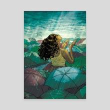 Summer Rains - Canvas by Naomi Franquiz