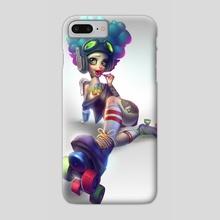 Roller Girl - Phone Case by Zork Marinero
