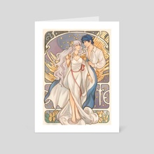 Sigurd and Deirdre - Art Card by Tamafry