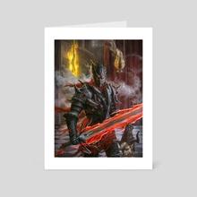 Dark Crimson Knight - Art Card by Alvaro Nebot