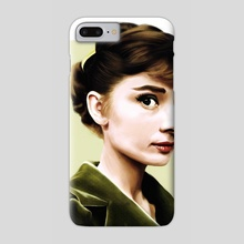 Audrey Portrait - Phone Case by Sophie Eves