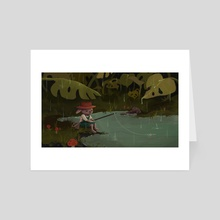 Comfy Fishin' Puddle - Art Card by wish