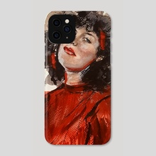 Scarlet lady - Phone Case by Captured  Impressions Art