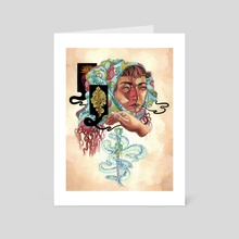 When We Fell, Even Dry Oaks Began to Blossom - Art Card by Kit Mizeres