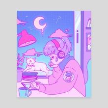 LOFI Girl - Canvas by Jenn (bunny_tone)